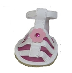 dog sandals pink leather