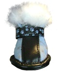 designer dog boots fancy fur blue