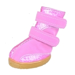 waterproof winter dog boots pink