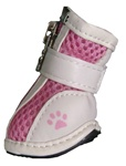 Dog Boots Mesh Leather Pink