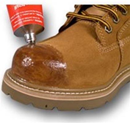 shoe goo repair and protective coating
