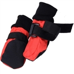 Soft Sole Waterproof Winter Dog Booties Red