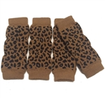 Dog Leg Warmers Leopard